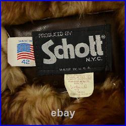 VTG Schott 212 Mountain Man Real Long Hair Sheepskin Shearling Fur Coat Jacket