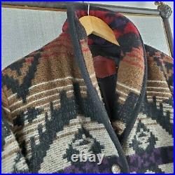 VTG WOOLRICH USA MADE Medium Womens Wool Aztec Southwest Barn Chore Jacket Coat