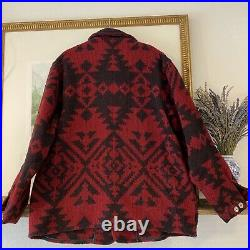 VTG Woolrich Aztec Navajo Native American Blanket Wool Jacket Coat XL Western