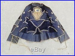 Vintage 1960s Vtg 60s CHAR Genuine Leather Suede Whipstitched Jacket Coat S SM