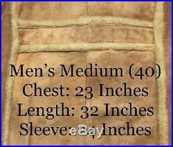 Vintage 1970s Schott Western Rancher Sheepskin Shearling Jacket Coat Size 40