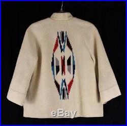 Vintage 40s 50s FRED HARVEY el grandee chimayo wool blanket jacket western S M
