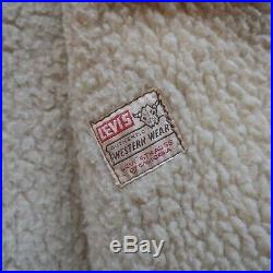Vintage 50s Levis Big E Shorthorn Suede Lined Jacket Western Wear Leather