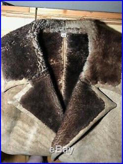 Vintage 60's Mens Jacket Western large Marlboro Ranch Coat Suede Sherpa 42