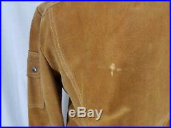 Vintage 70s Angeli Cropped Suede Leather Western Boho Jacket Snap up Womens XS S