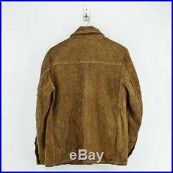 Vintage 70s Schott Bros Rancher Western Suede Leather Brown Shirt Jacket M / L