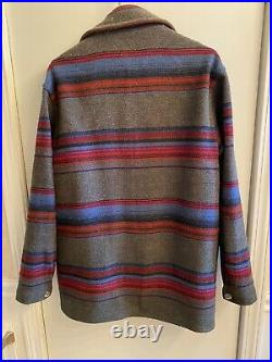 Vintage 80s Woolrich Stripe Jacket Made In USA Coat Mens Small Aztec Navajo