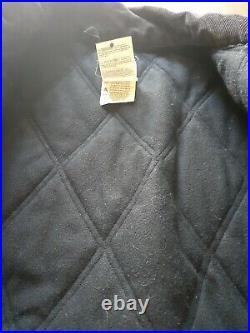 Vintage Carhartt Aztec Navajo Western Print Canvas Work Jacket Black Coat SZ XL