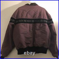 Vintage Carhartt Jacket Coat Mauve Purple 2XL XXL Aztec Western USA Made JQ0457
