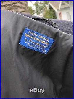 Vintage High Grade Western Wear Native Made In USA Pendleton Jacket Size Large