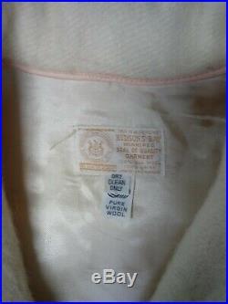 Vintage Hudson Bay Co. Wool Blanket 4 Colored Stripe Jacket Coat Women's, L