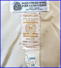 Vintage Hudson Bay Co. Wool Blanket 4 Stripes Jacket Coat Women's