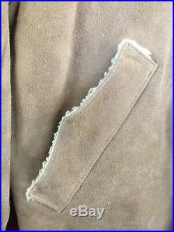 Vintage J BAR S Sherpa Lined WESTERN Suede Leather RANCHER JACKET Mens 40