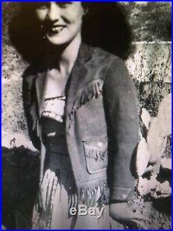 Vintage Leather Fringe Jacket Original 40s Western Rockabilly Hippie Suede Coat