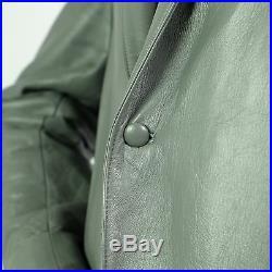 Vintage Leather Snake Skin Rattlesnake Sport Coat Gray Rockabilly Western Blazer