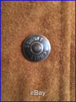 Vintage Men's Schott Western Suede Leather Fringed Jacket Size S/M