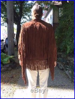 Vintage Men's Western Fringe Jacket Super Long 19 Fringe! ROCK STAR