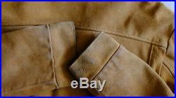 Vintage Mens Leather Jacket Schott NYC Suede Western Jacket Sz 50 XL