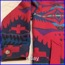 Vintage Mens PENDLETON High Grade Western Wear Southwest WOOL Jacket Size 46