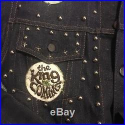 Vintage Motorcycle Club MC Denim Jacket 1960s Patches Studs Dude Western