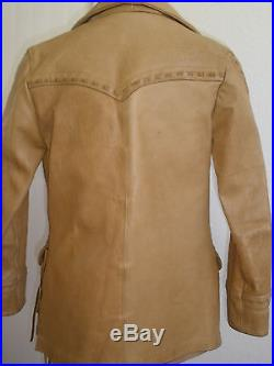 Vintage Ms. Pioneer Western Leather Jacket Size 10 Ultra Hot Unique Made In USA