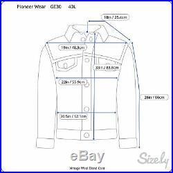 Vintage NWT Pioneer Wear Coat 40L Wool Blend Blue Plaid Rockabilly Western Parka