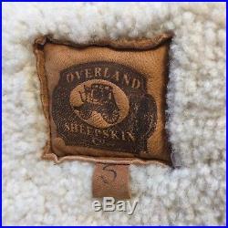 Vintage Overland Sheepskin Co. Leather Fur Western Ranch Jacket Coat Vest Top S