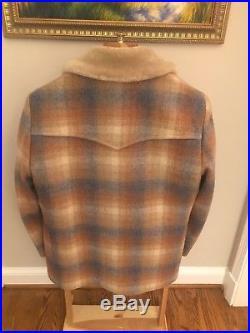 Vintage PENDLETON HIGH Grade WESTERN Wear WOOL BLANKET Jacket COAT Excellent