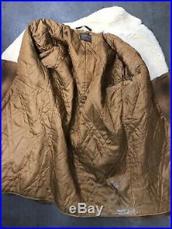Vintage PENDLETON High Grade WESTERN WEAR WOOL COAT JACKET SHERPA LINED Plaid