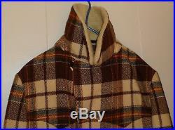 Vintage PENDLETON High Grade Western Wear Plaid Wool Coat, Size L