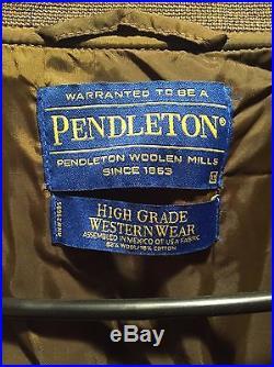 Vintage PENDLETON High Grade Western Wear Southwest, Indian Wool Jacket XLARGE