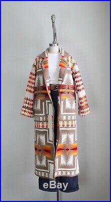 Vintage Pendleton Blanket Coat Southwestern Chief Harding Wool Jacket Western