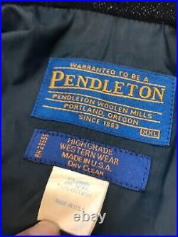 Vintage Pendleton High Grade Western Wear Coat Jacket USA Men's XXL