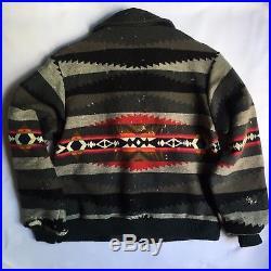 Vintage Pendleton High Grade Western Wear Indian Blanket Wool Bomber Jacket Medi