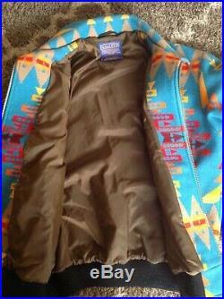 Vintage Pendleton High Grade Western Wear Indian Blanket Wool Jacket USA Mens L