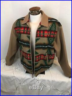 Vintage Pendleton High Grade Western Wear Mens Sz 2XL Wool Jacket Coat Aztec USA