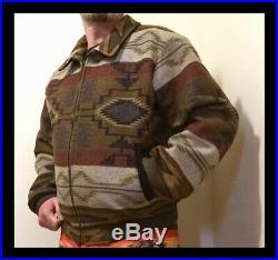 Vintage Pendleton High Grade Western Wear Wool Aztec Browns Bomber Mens M Jacket