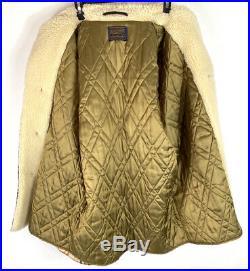 Vintage Pendleton Mens Plaid Wool Coat Sherpa Trim Western Ranch Barn Jacket