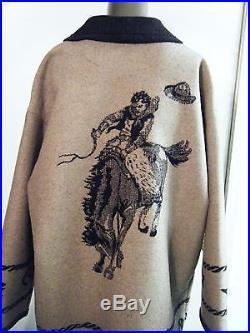 Vintage Pendleton Pendelton Let'er Buck Cowboy Western Coat Jacket