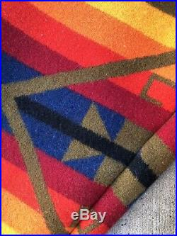 Vintage Pendleton Western Wear High Grade Wool Jacket Aztec Native Tribal Stripe