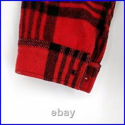Vintage Pendleton Wool Mackinaw Plaid Cruiser Jacket Field Chore Barn Coat USA L