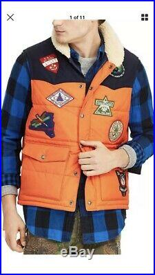 Vintage Polo Ralph Lauren Great Outdoors Quilted Western Puffer Vest Sz Xl