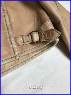 Vintage Polo Ralph Lauren Leather DEERSKIN Jacket Indian Western RRL Tan M 80s