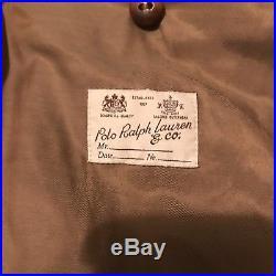 Vintage Polo Ralph Lauren RRL Leather Western Motorcycle Jacket Talon Zipper XL