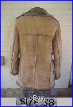 Vintage RANCHERO Lambswool Shearling Western Coat Jacket Size 38 NAPA CALIFORNIA