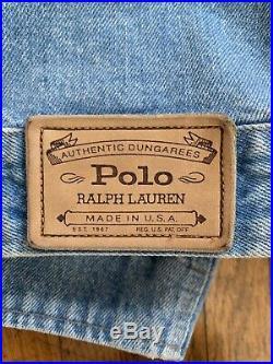 Vintage Ralph Lauren Polo Denim Jean Jacket Mens M Bear Flag USA 90s Western