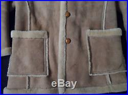 Vintage SAWYER OF NAPA Shearling Western Style Coat - Sz 42 - Exc Condition