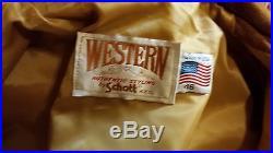 Vintage Schott Western Fringe suede leather Jacket Coat Size 46 EX COND