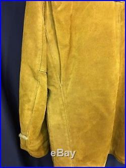 Vintage Schott Western Heavy Suede Brown Rancher Jacket. Size 42