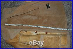 Vintage Shearling Coat GENUINE Sheepskin Marlboro Man Ranch Jacket Western 38